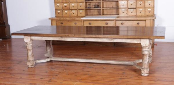 Nice Colne Table On Stretcher Base