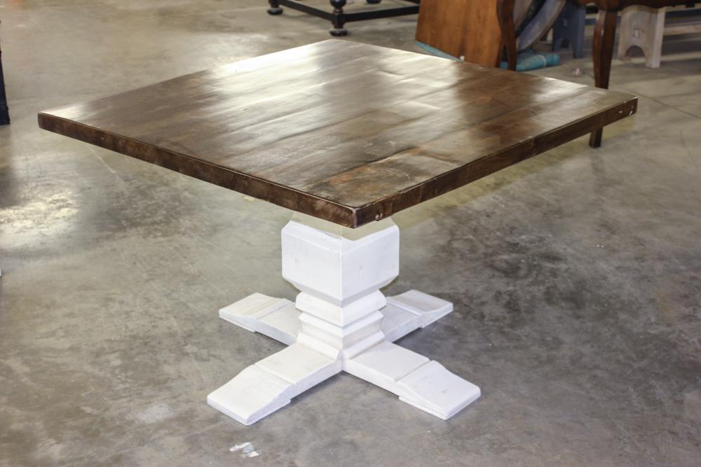 Alder Top Square Pedestal Table